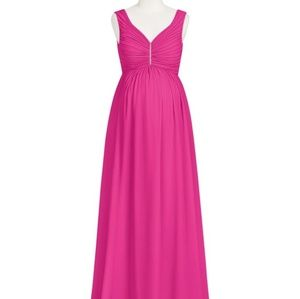 Azazie fuchsia formal maternity dress